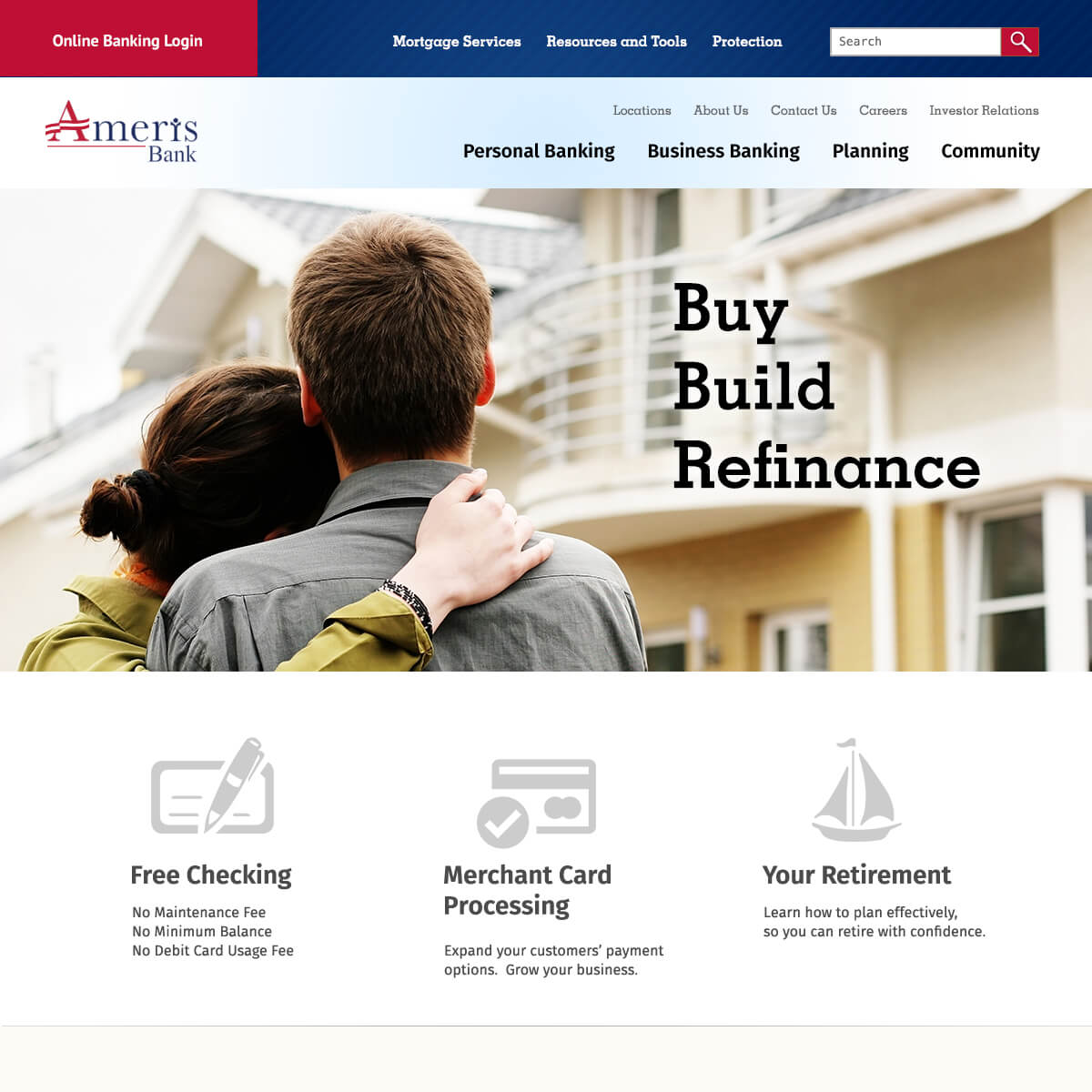 Ameris Bank Website Preview