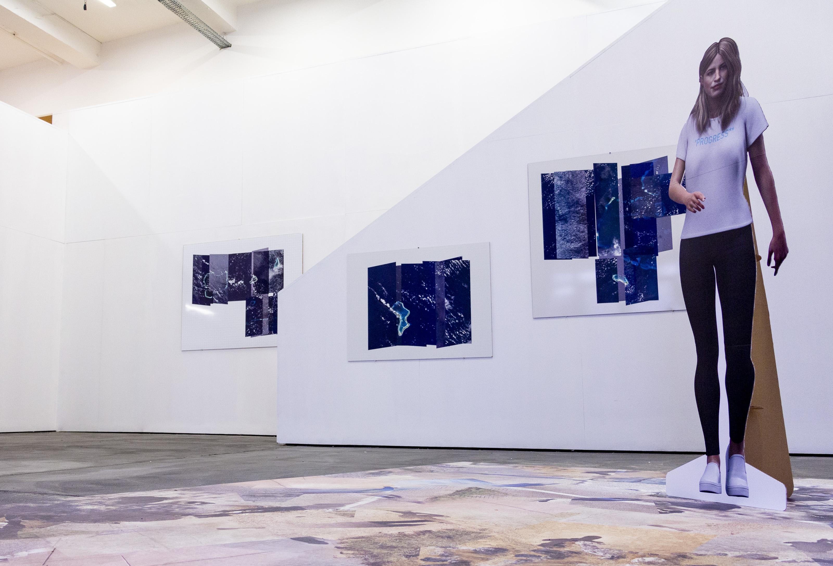 """Johanna Flato, """"Columbia Welcomes"""" installation view, Harlesden High Street, London, 2019 (photo courtesy of Johanna Flato)"""