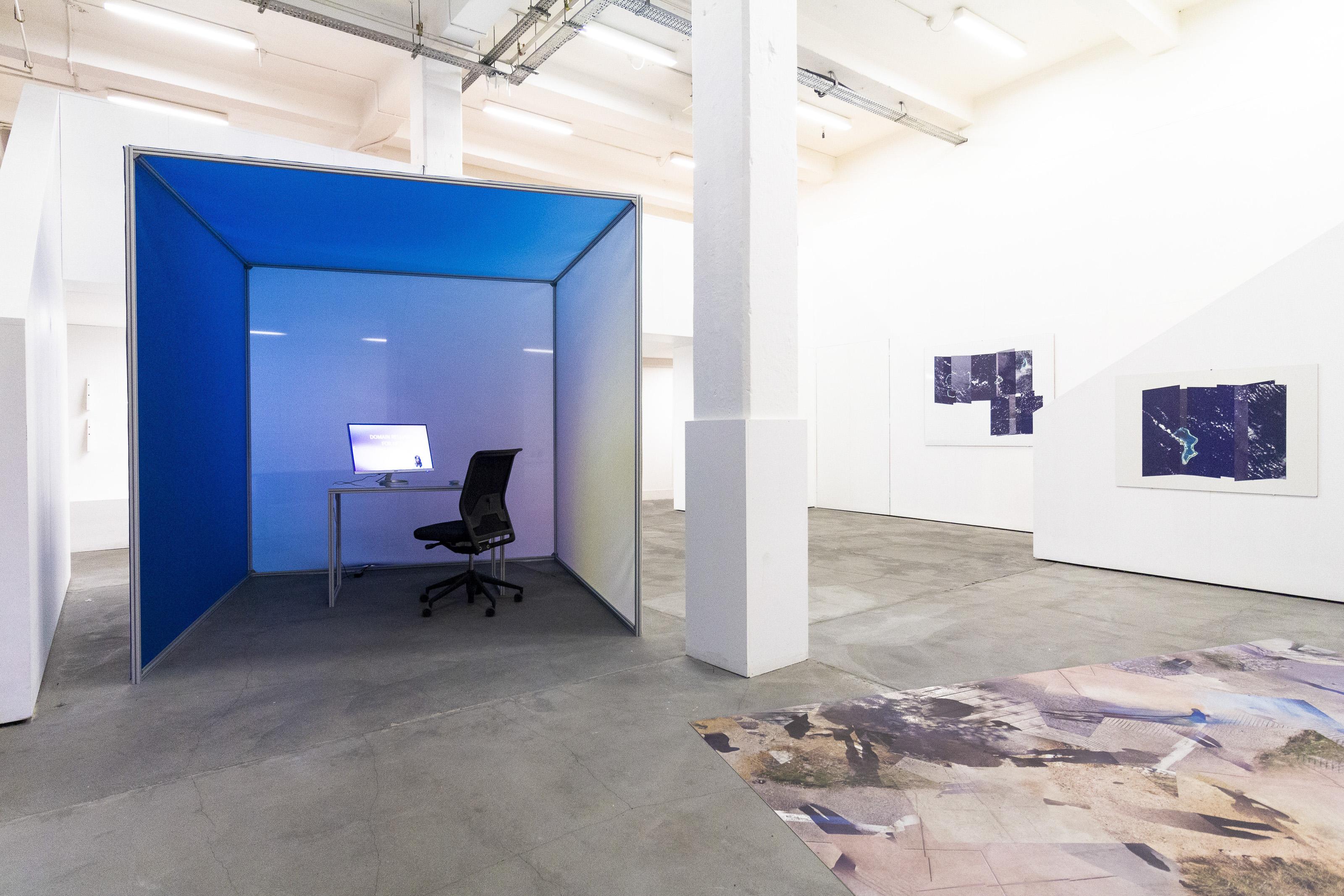 """Johanna Flato, """"DRAFTx.IO"""" installation view, Harlesden High Street, London, 2019 (photo courtesy of Johanna Flato)"""