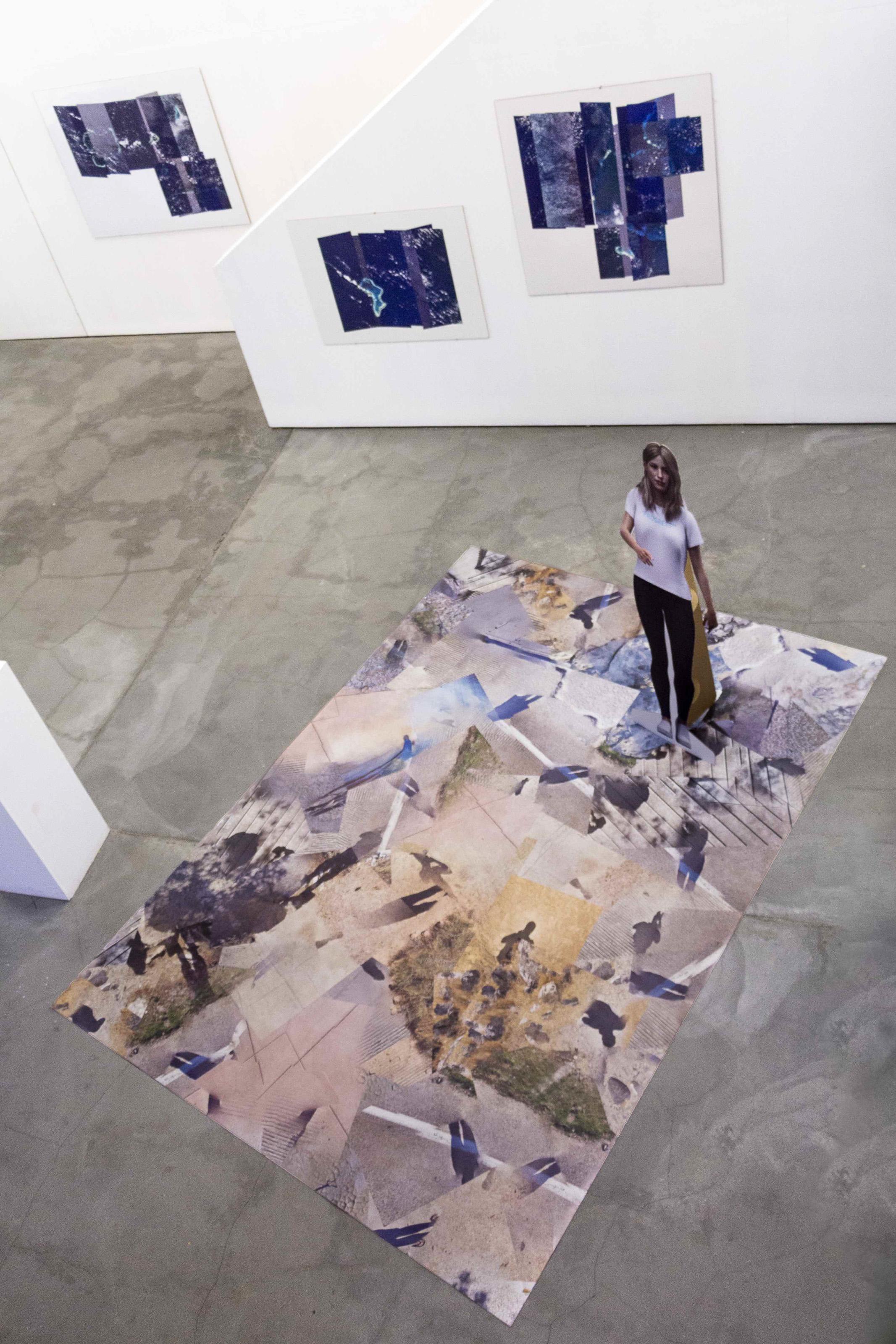"""Johanna Flato, """"DOMAIN ALPHA"""" installation view, Harlesden High Street, London, 2019 (photo courtesy of Johanna Flato)"""