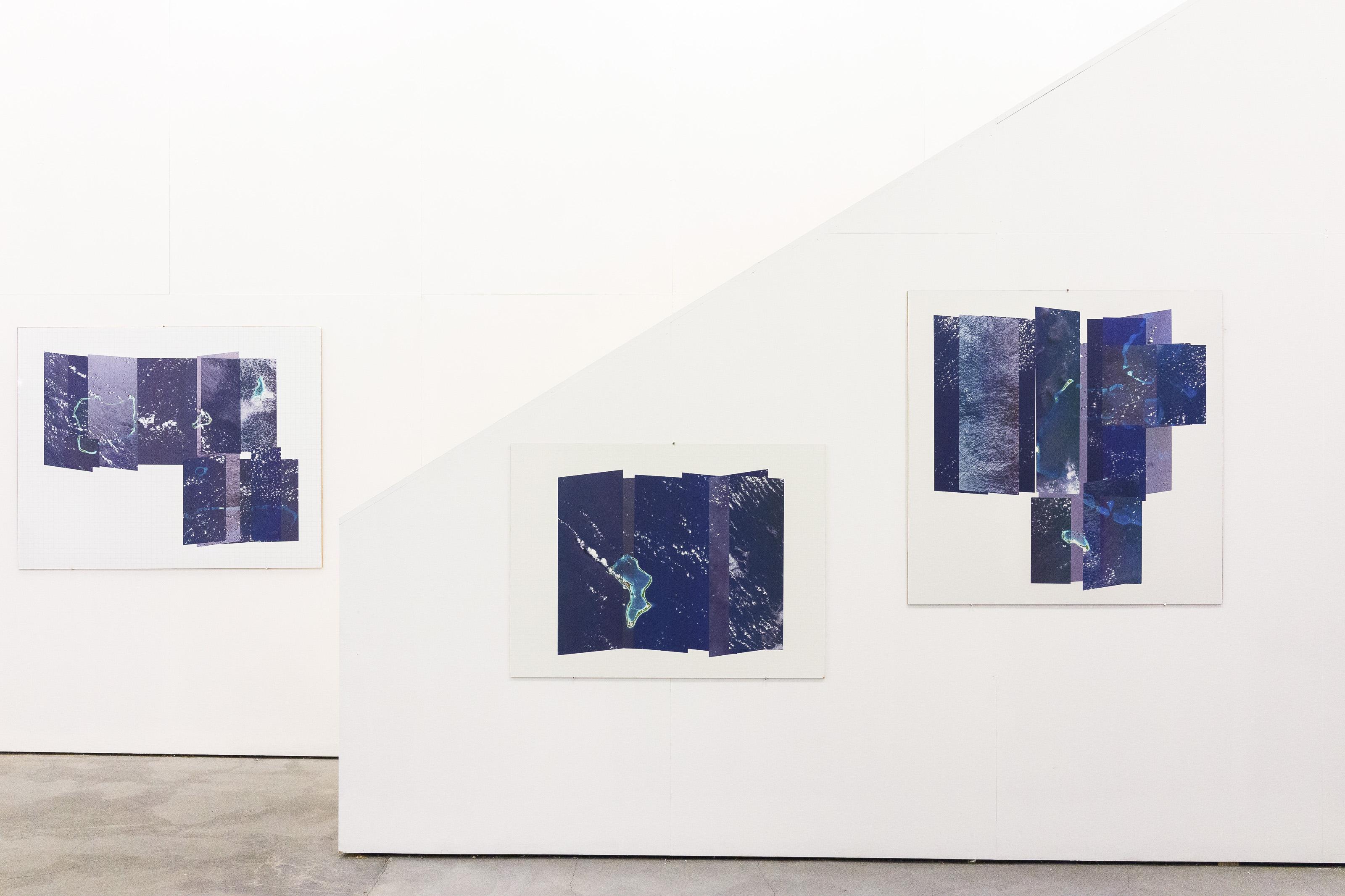 """Johanna Flato, """"IO Sitemaps"""" installation view, Harlesden High Street, London, 2019 (photo courtesy of Jonny Tanna)"""