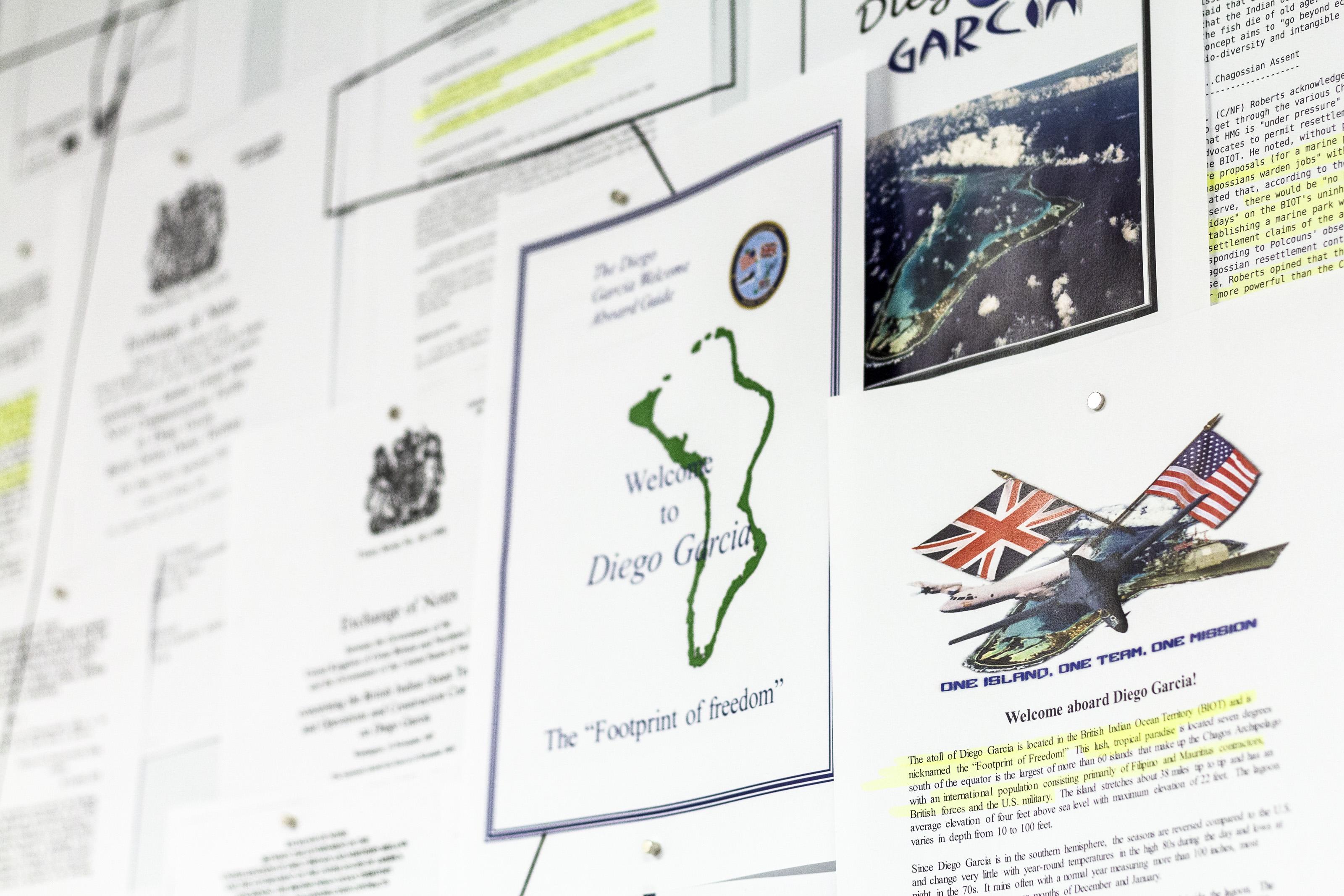 "Johanna Flato, ""IO Sitemaps"" documents detail, Harlesden High Street, London, 2019 (photo courtesy of Johanna Flato)"