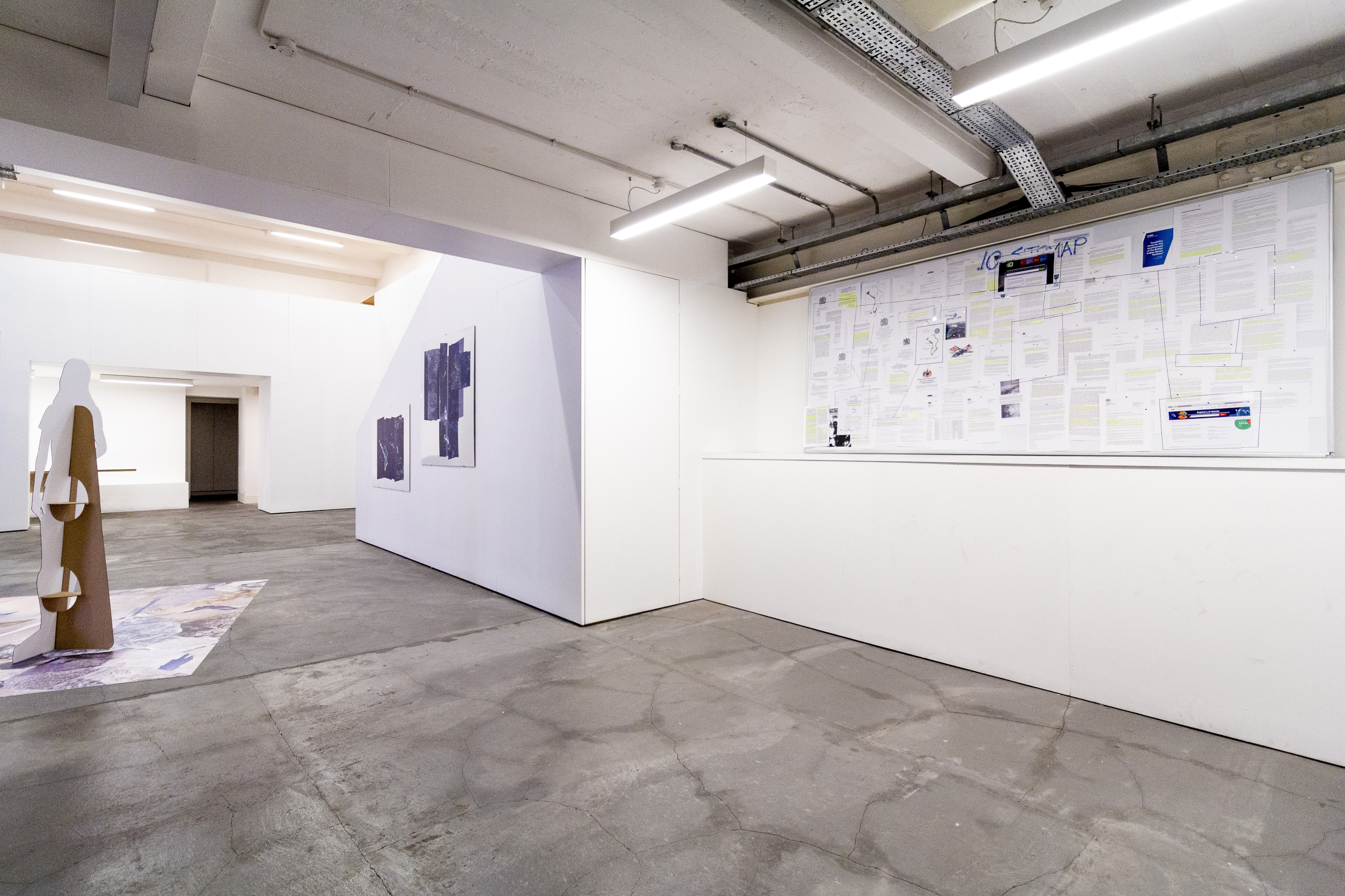 "Johanna Flato, ""IO Sitemaps"" installation view, Harlesden High Street, London, 2019 (photo courtesy of Johanna Flato)"