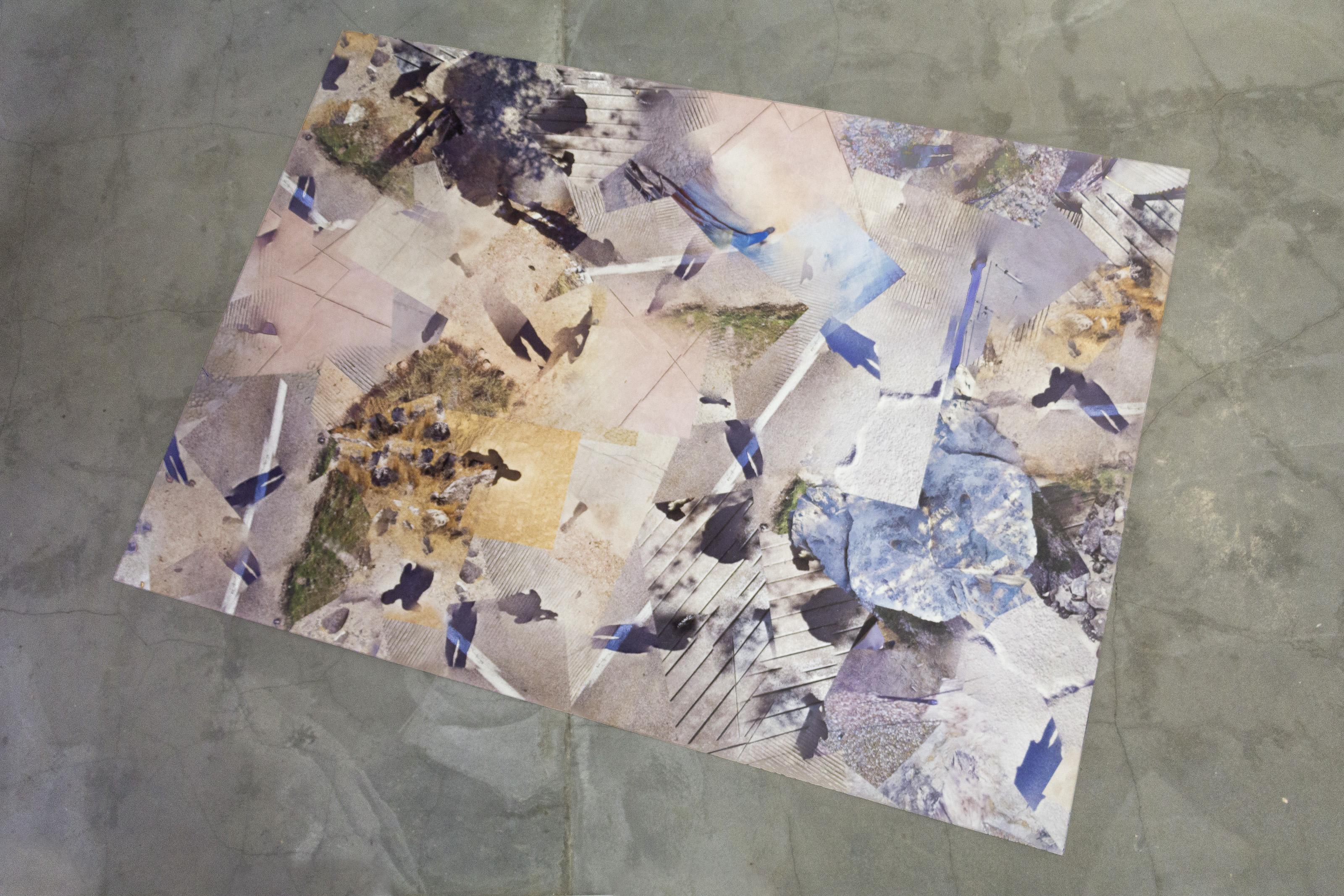 "Johanna Flato, ""The Trail Leads West"" installation view, Harlesden High Street, London 2019 (photo courtesy of Johanna Flato)"
