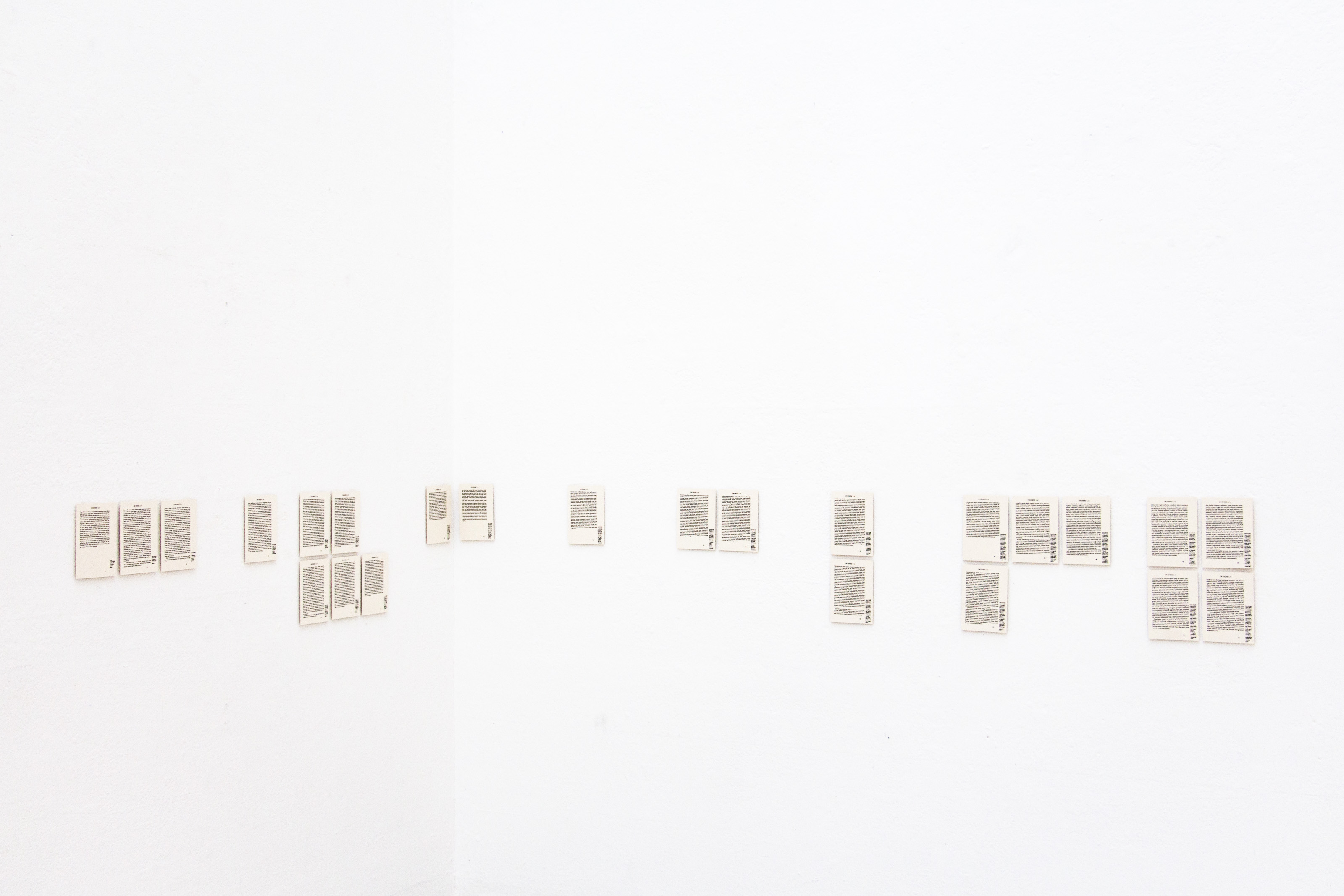 """Installation view of """"Sirens in the Blank"""" showing work by Johanna Flato, 2018"""