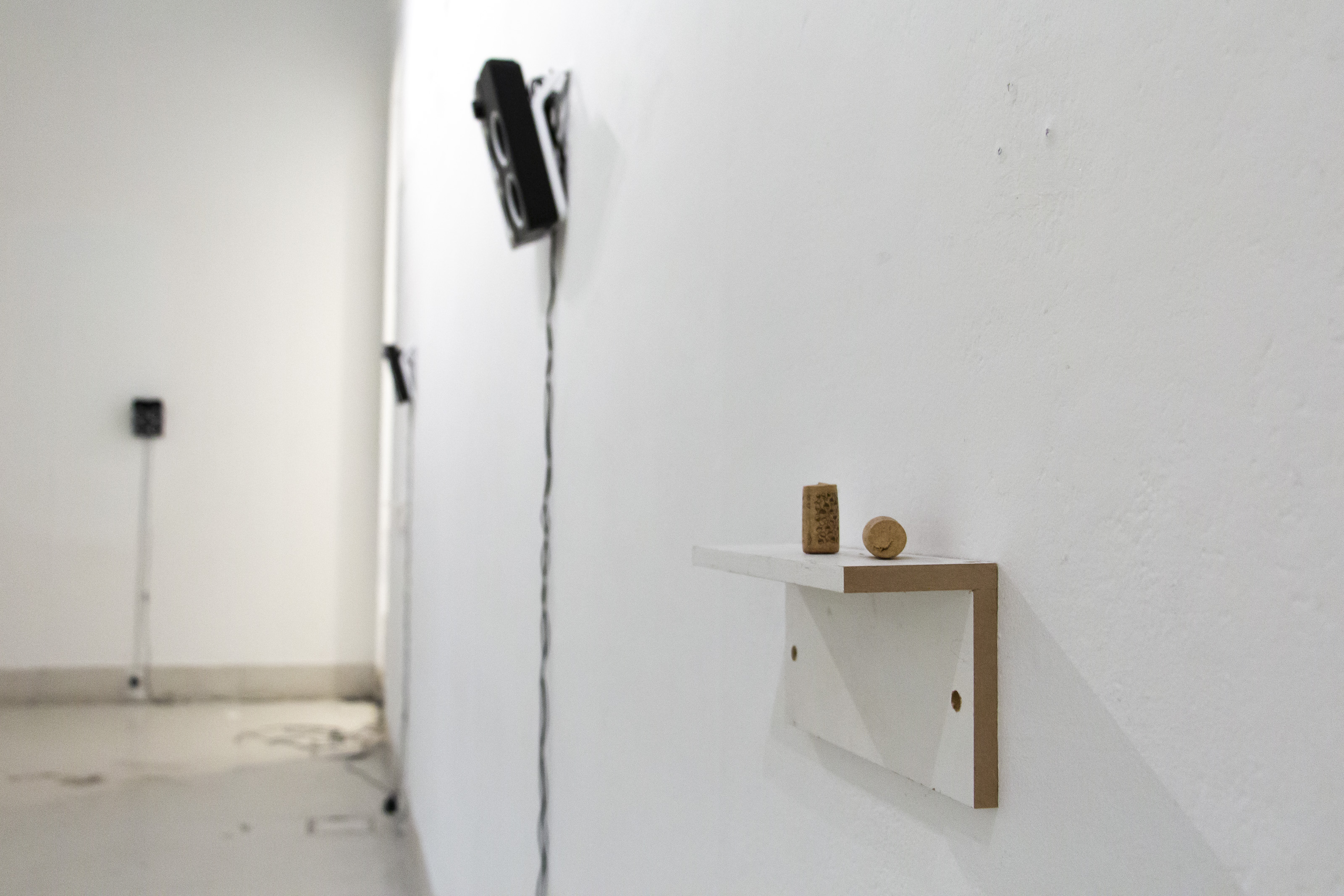 """Installation view of """"Sirens in the Blank"""" showing work by Chris Taylor, 2018"""