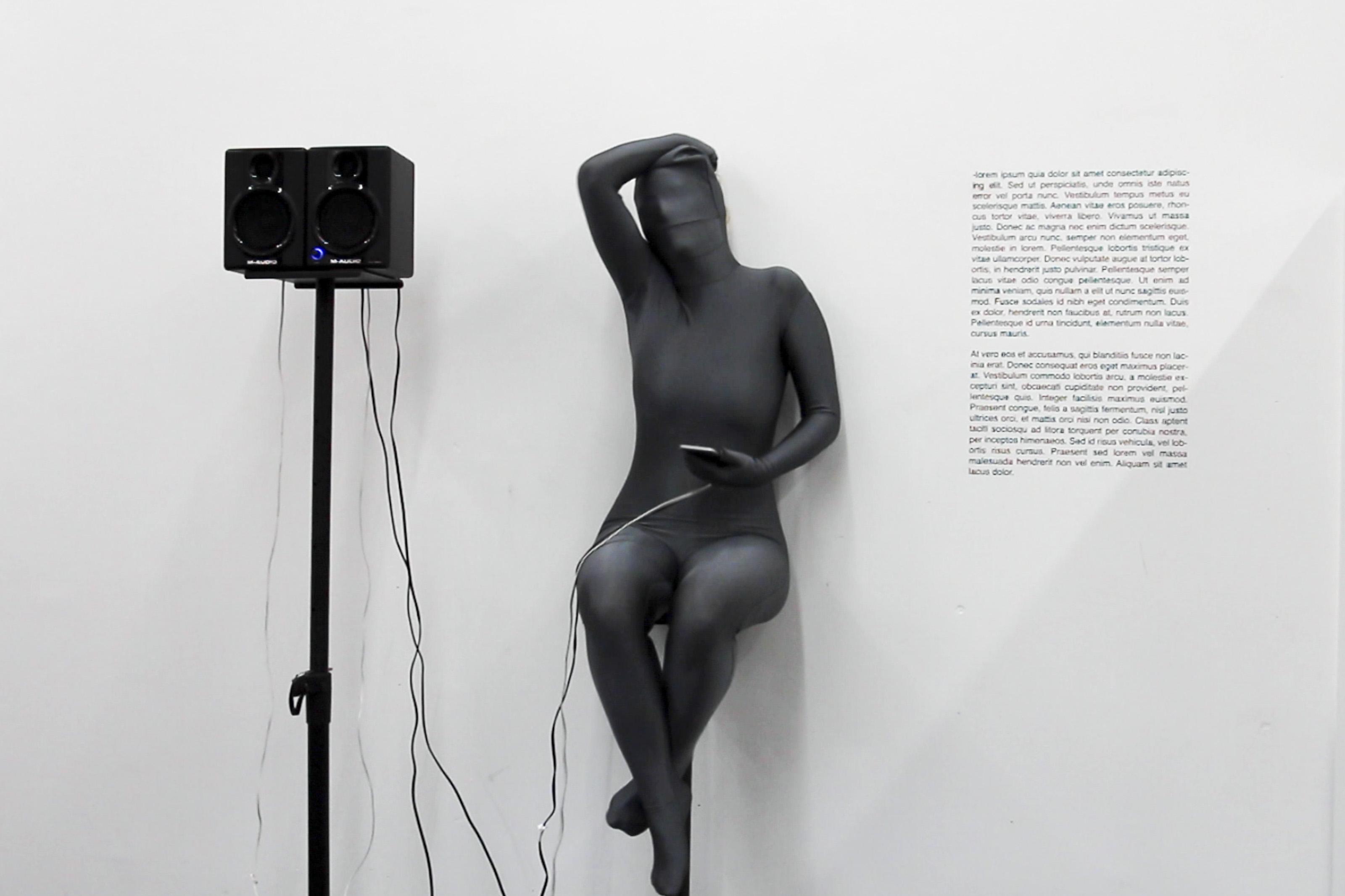 "Johanna Flato, ""Doing Lipsum Corpus"" performance, Royal College of Art, London, 2017"
