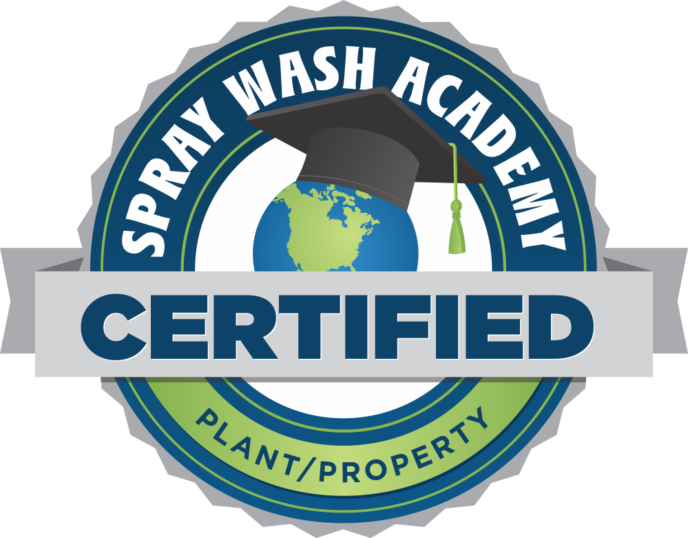 Castle Keepers Maintenance are Spray Wash Academy Certified in Plant and Property
