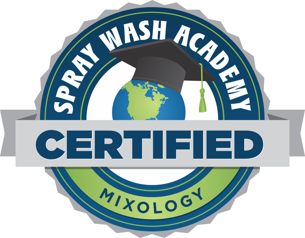 Castle Keepers Maintenance are Spray Wash Academy Certified in Mixology