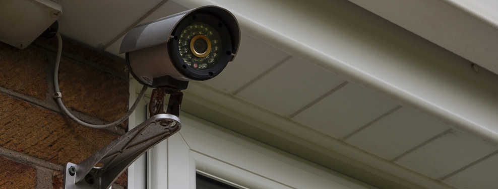 A picture of a CCTV camera installed at a home address in Sussex