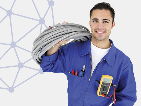 A picture of installer man