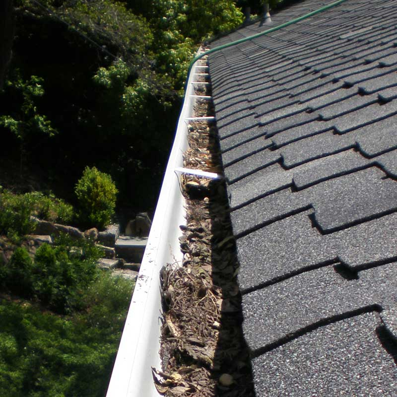 Atlantis can clean dirty gutters like this so you don't have to