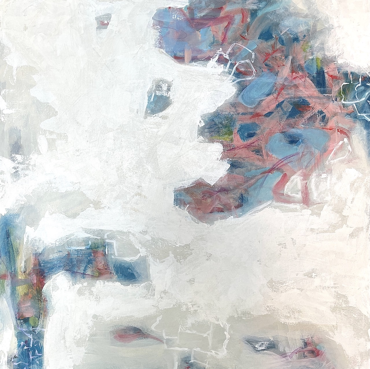 Abstract painting by Pamela Campe