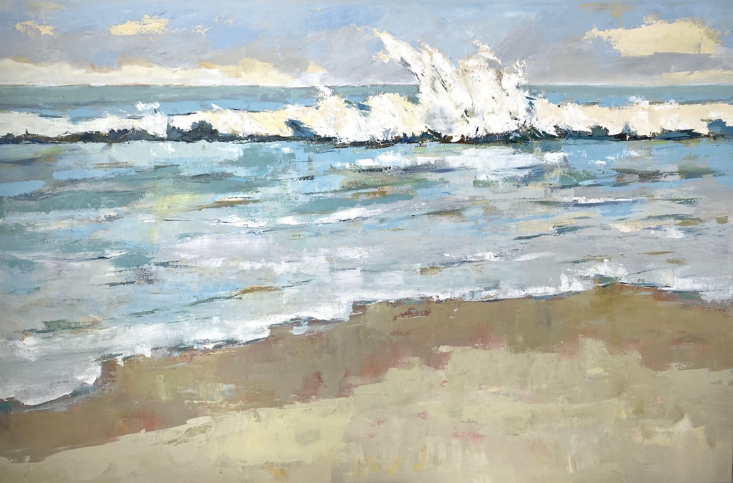 Making Waves, oil painting, seascape, beach by Claire Kendrick