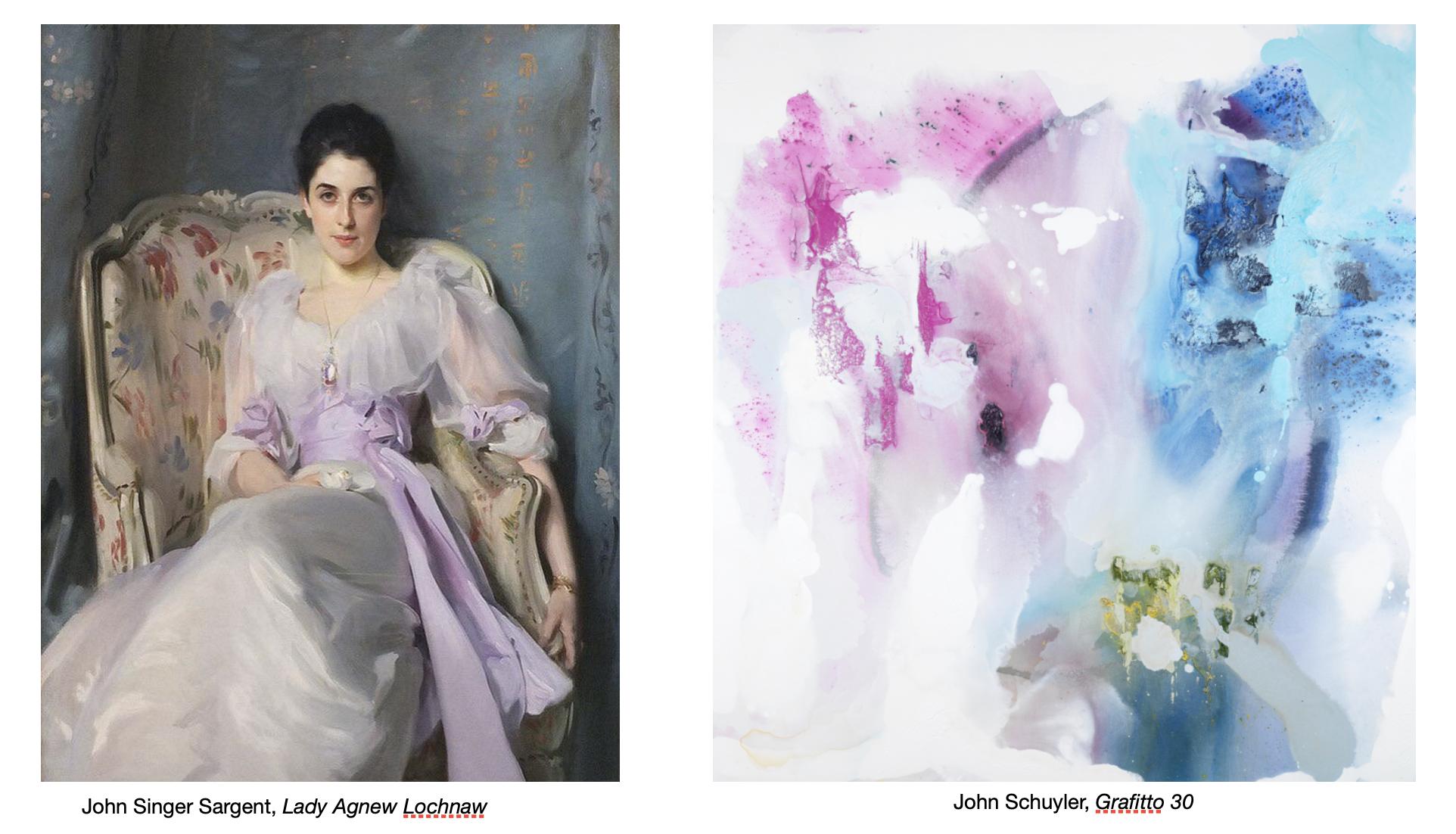 John Singer Sargent portrait, John Schuyler abstract painting