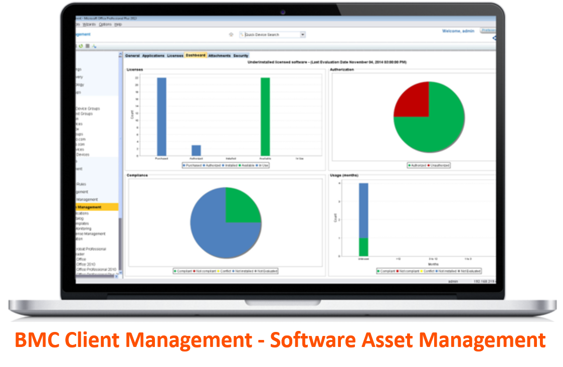 BMC Cient Management - SW Licensing Management