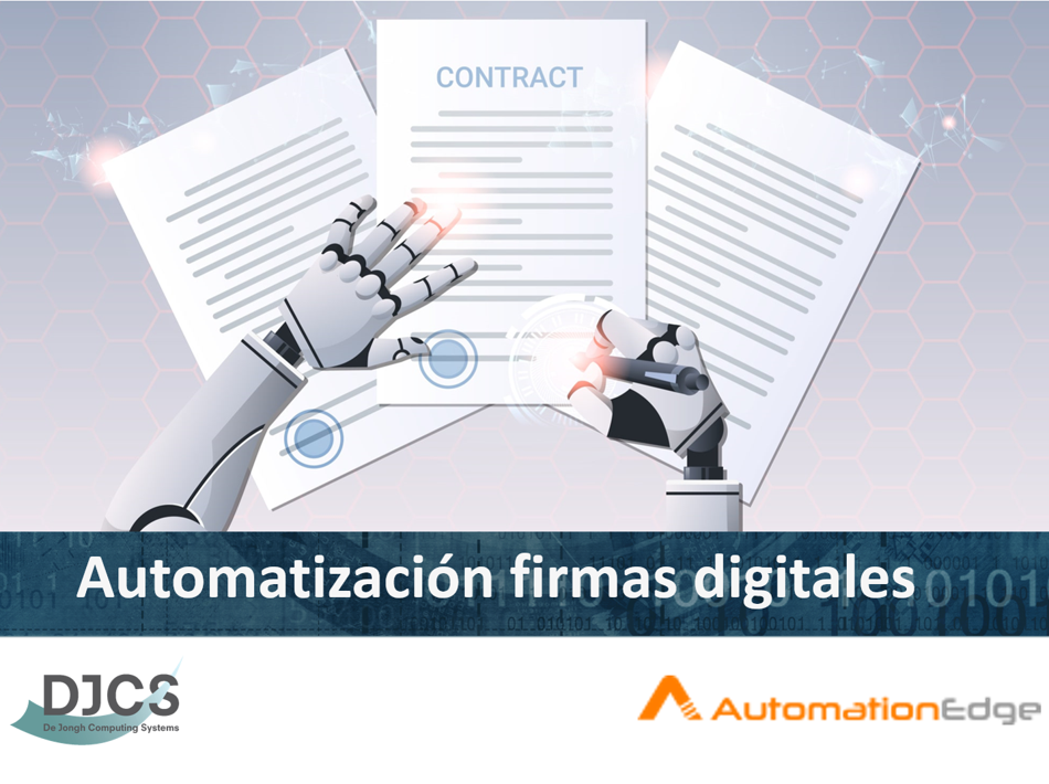 Firmas Digitales con AutomationEdge