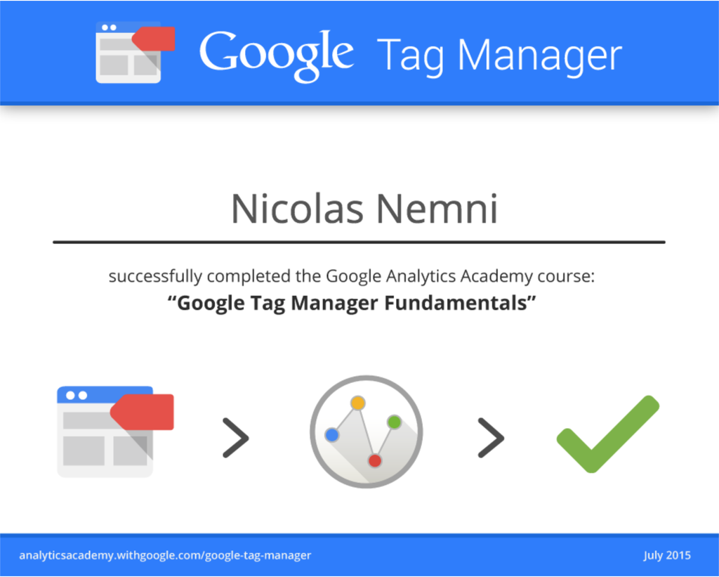 Google Tag Manager Fundamentals Certification