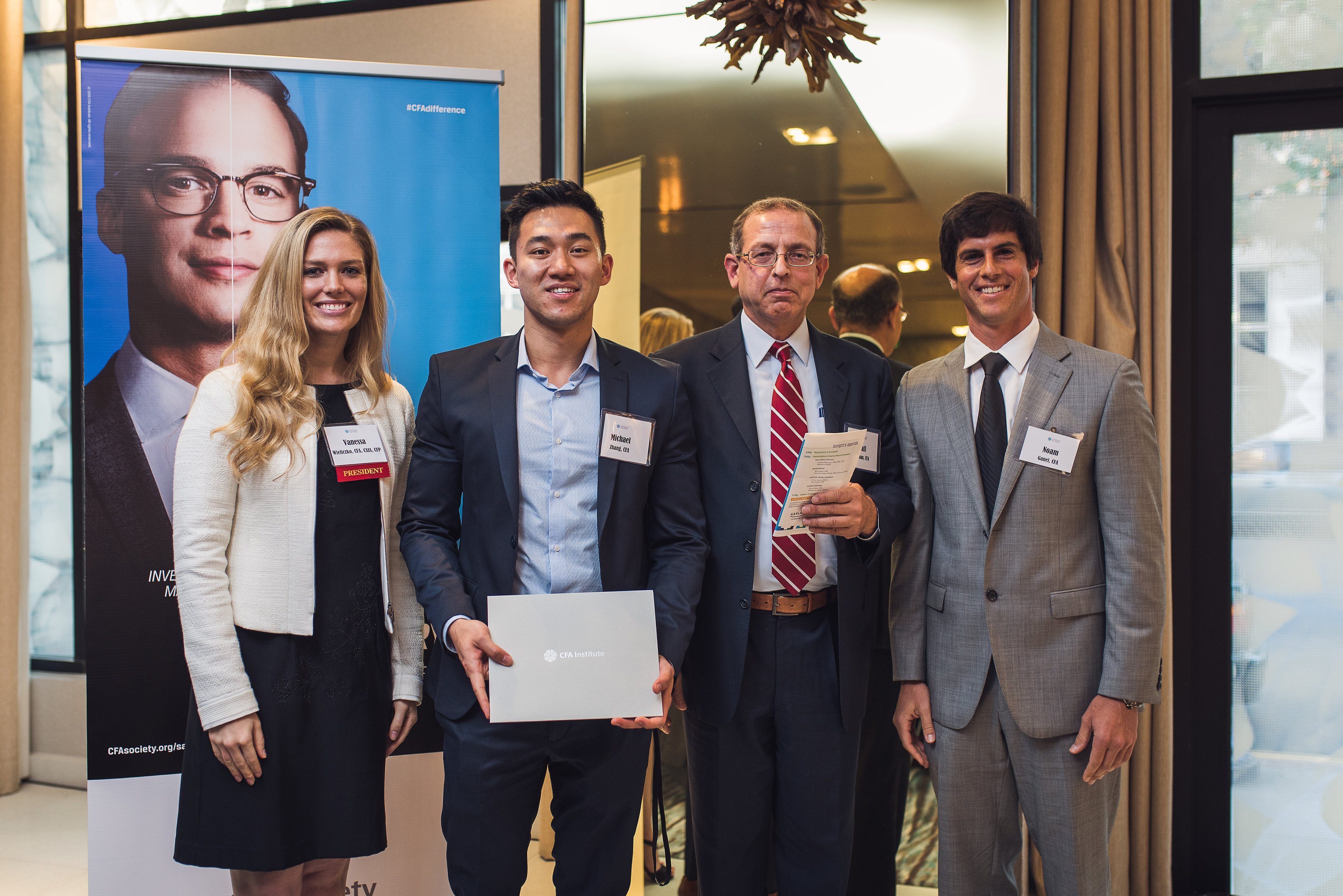 Congradulating new CFA Society San Diego Charterholders