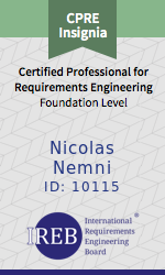 IREB Certified Professional for Requirements Engineering Certificate