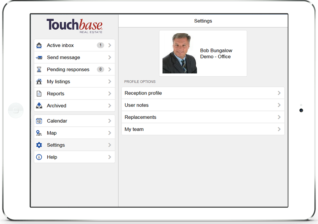 touchbase sm2 web responsive tablet