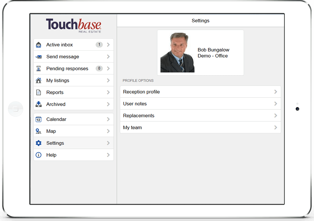 touchbase sm2 web responsive interface
