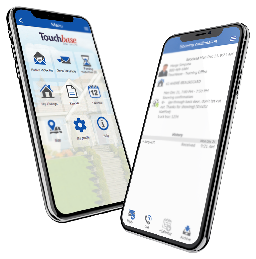 Touchbase mobile app