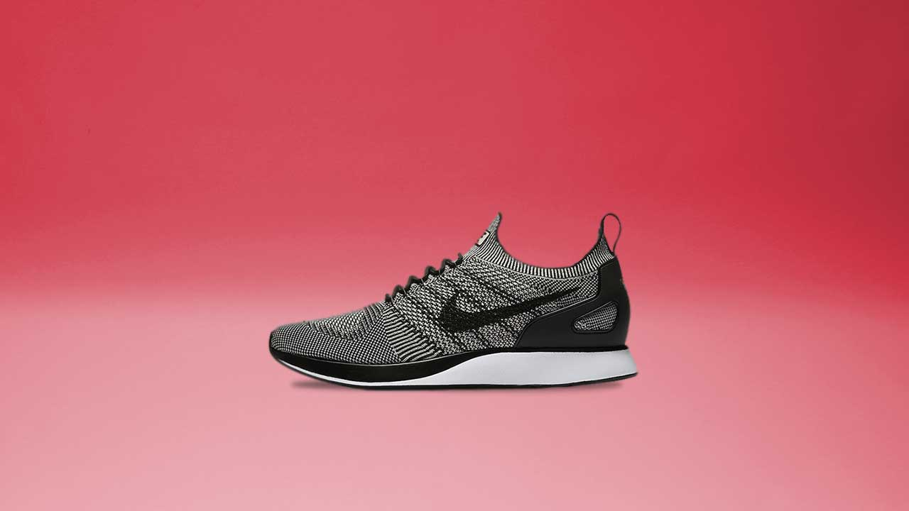 8bbf1d6b62e2 Air Zoom Mariah Flyknit Racer in Pale Grey Black Solar Red (Men s)