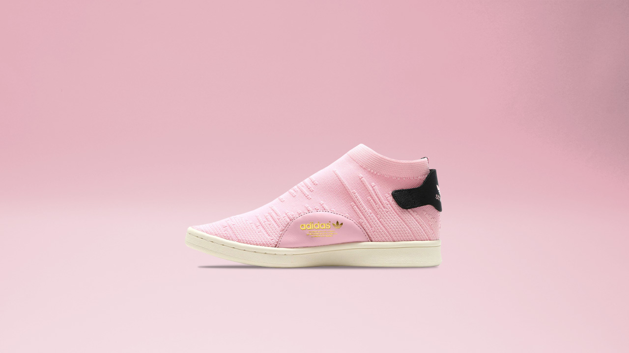 huge discount 1a0b1 e9d94 Iconic Stan Smith Sock Primeknit Alights in Wonder Pink