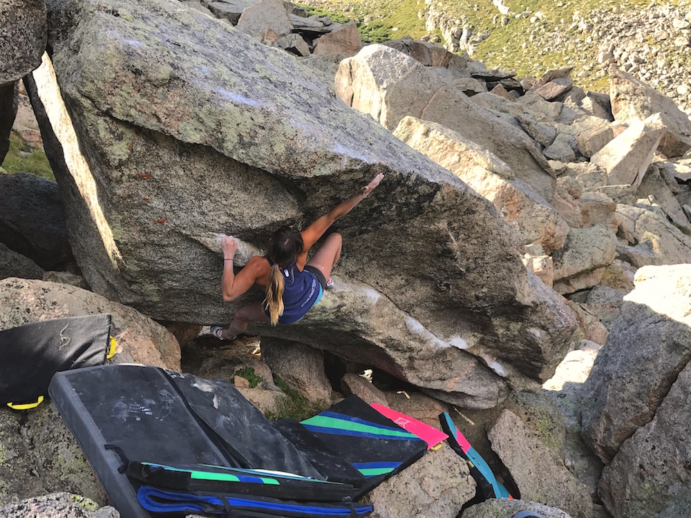 Andrea Szekely Rock Climbing