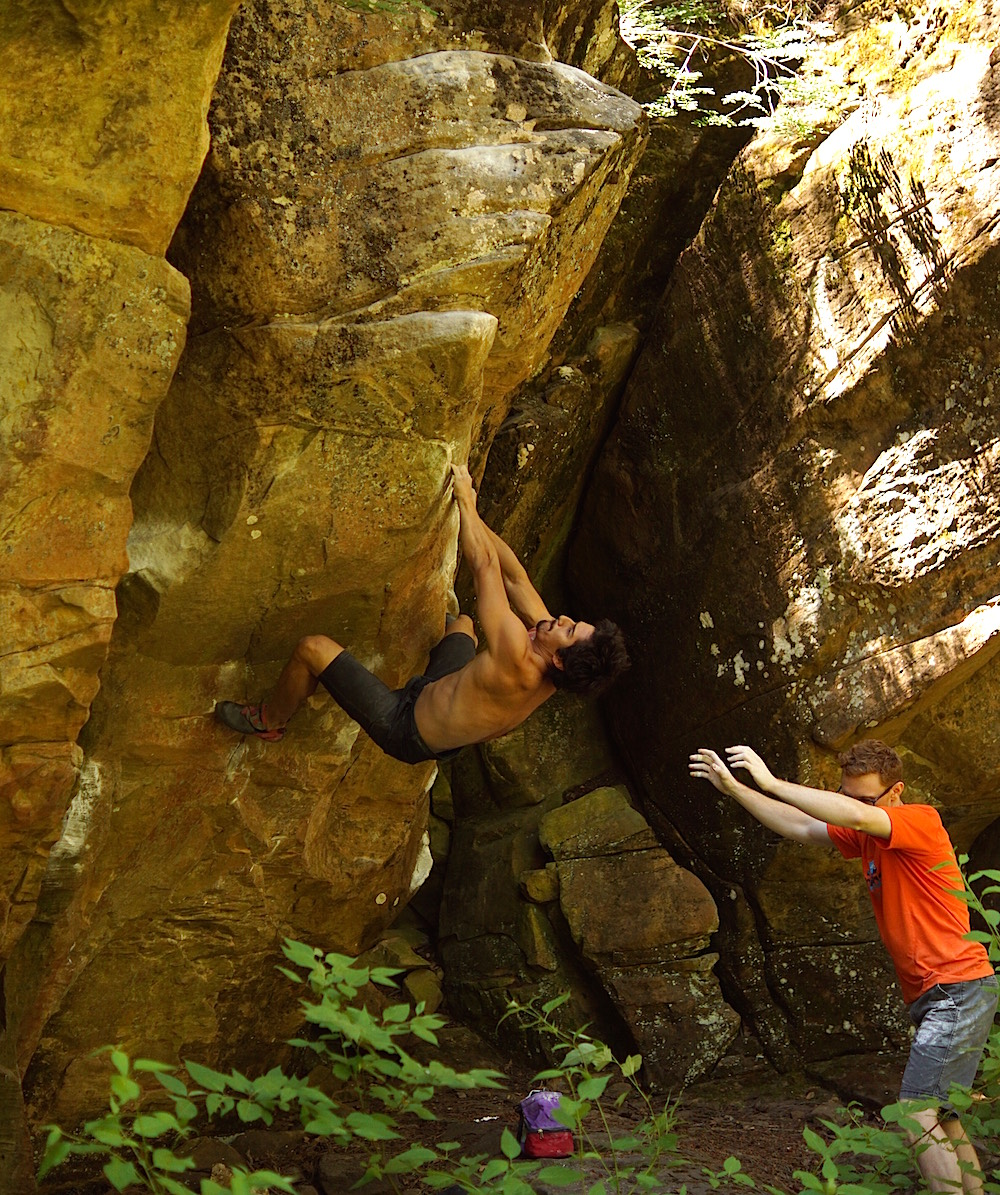 FrictionLabs Athlete Chris Ramirez Rock Climbing
