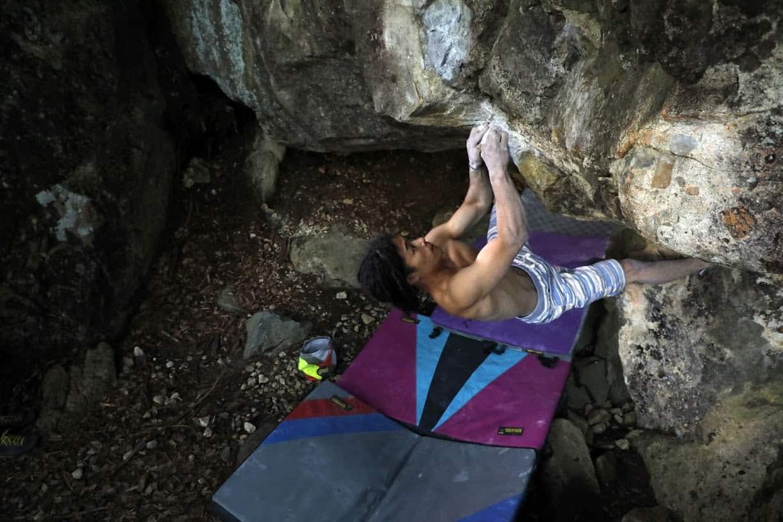 FrictionLabs Pro Athlete Daisuke Ichimiya climbing