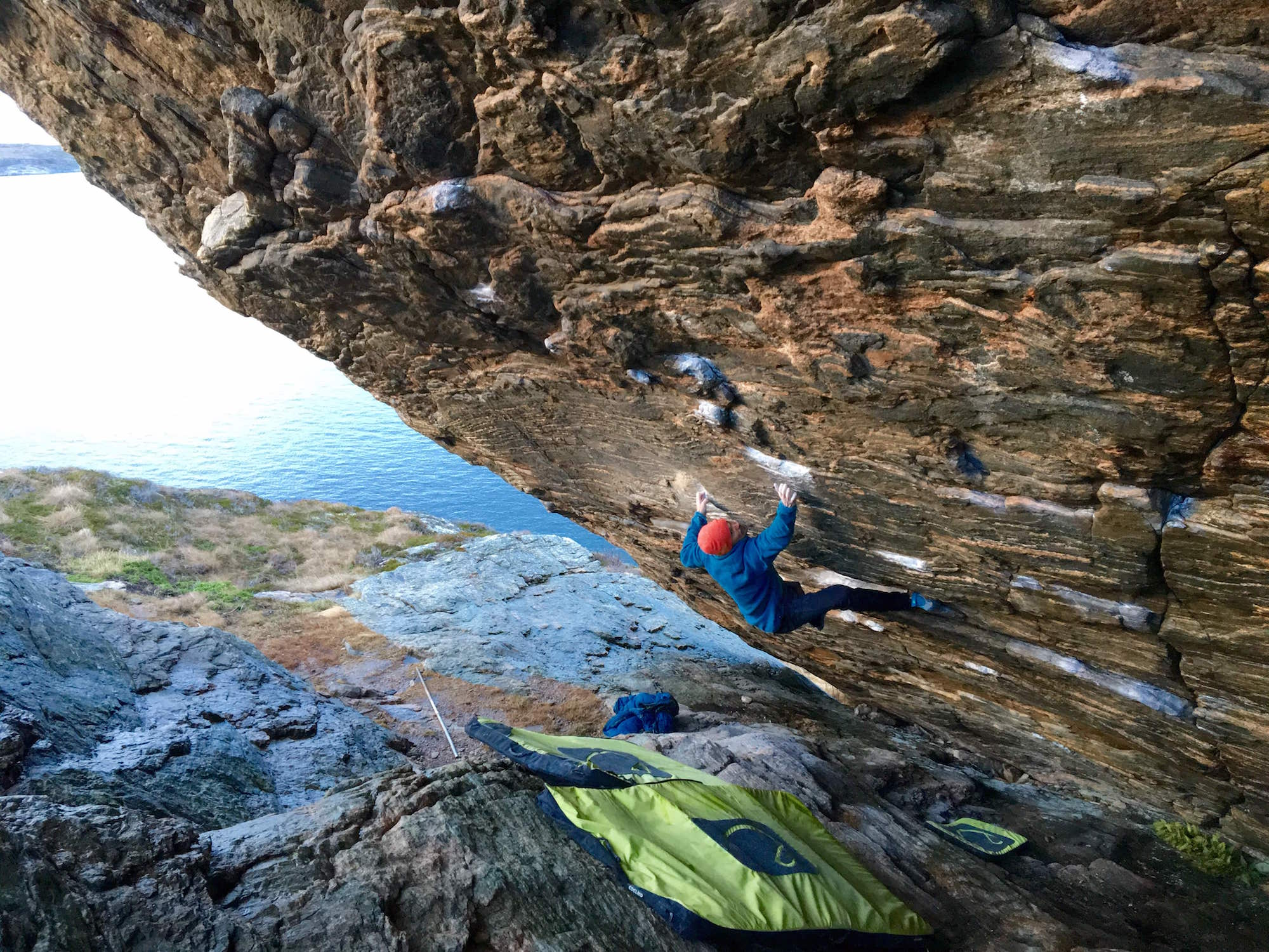 FrictionLabs Athlete Martin Mobråten climbing in Norway