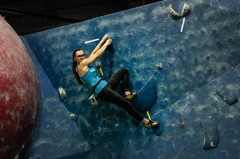 FrictionLabs Athlete Marie Bloc rock climbing