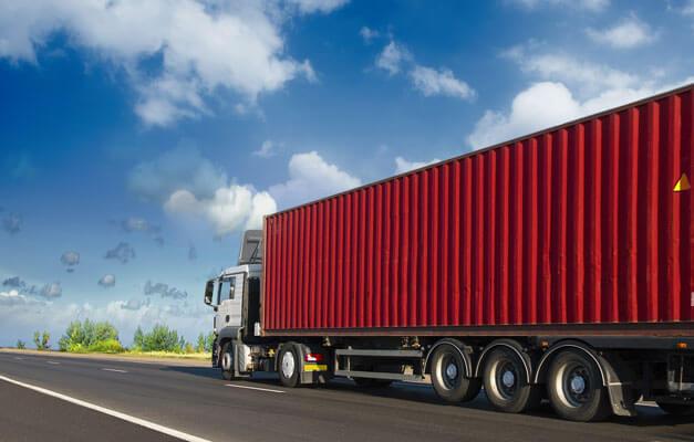 intermodal drayage container truck