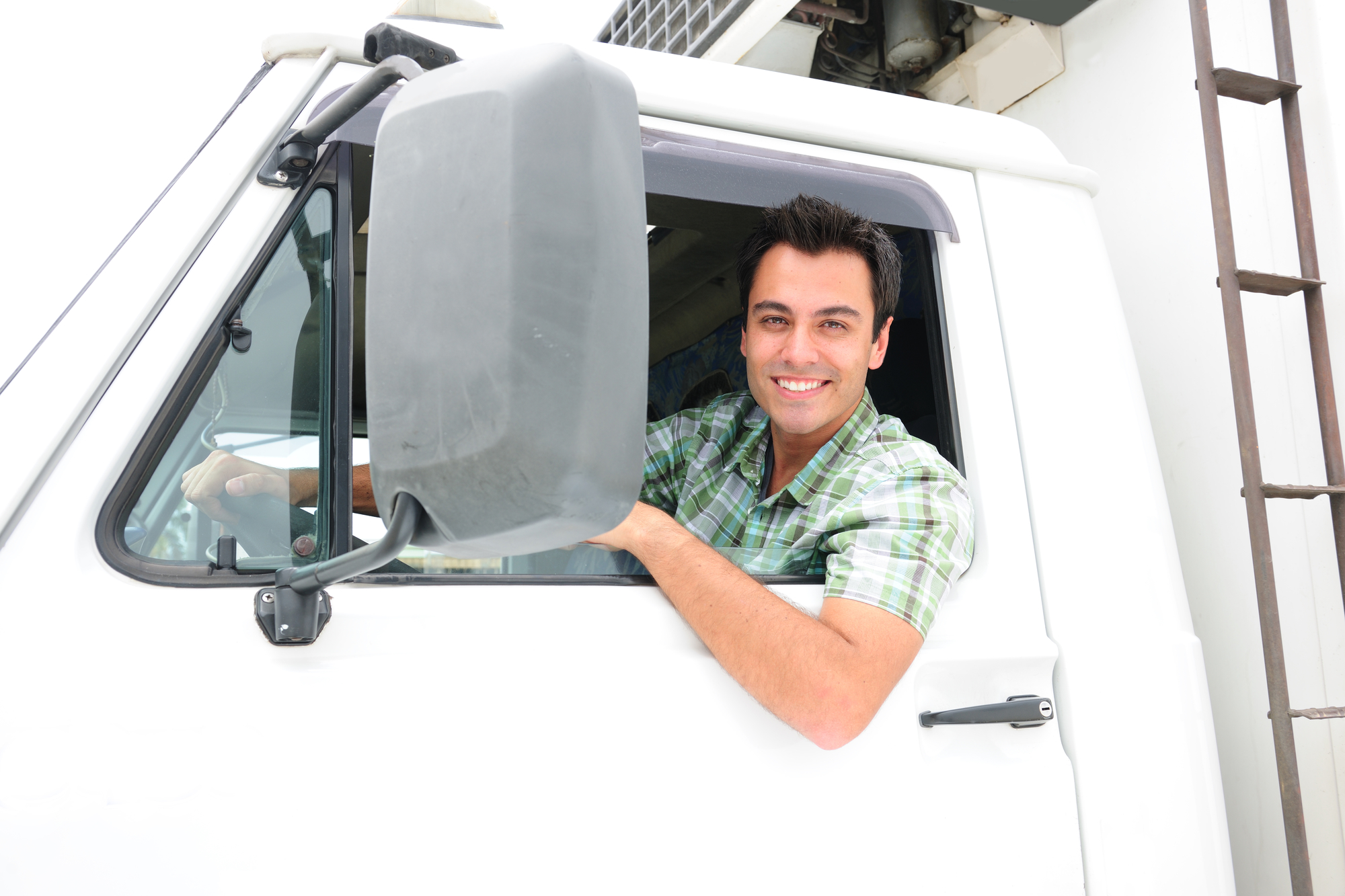 Owner operator sitting in truck