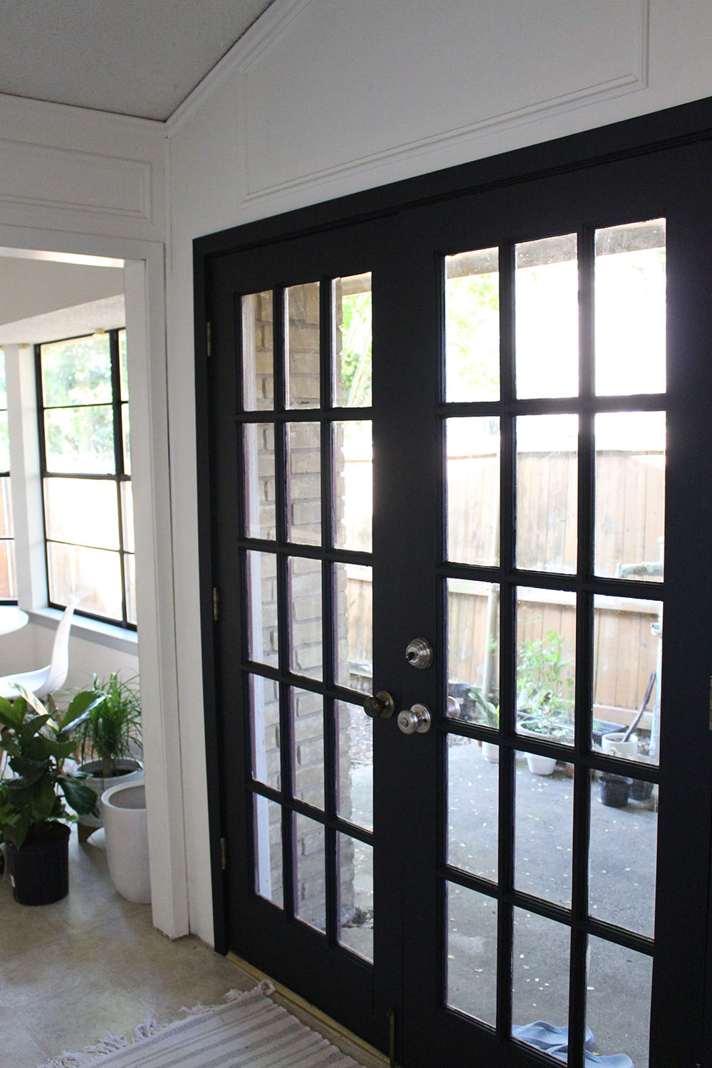 french door painting diy
