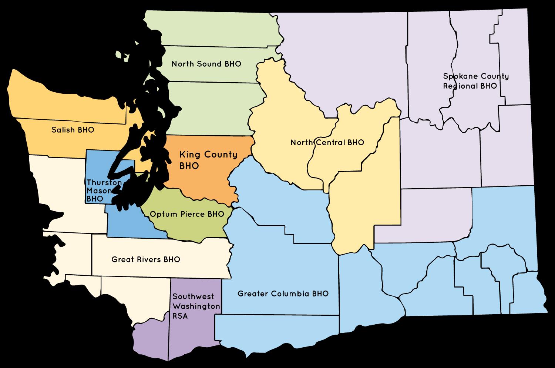 Washington State Map with FYSPRT regions