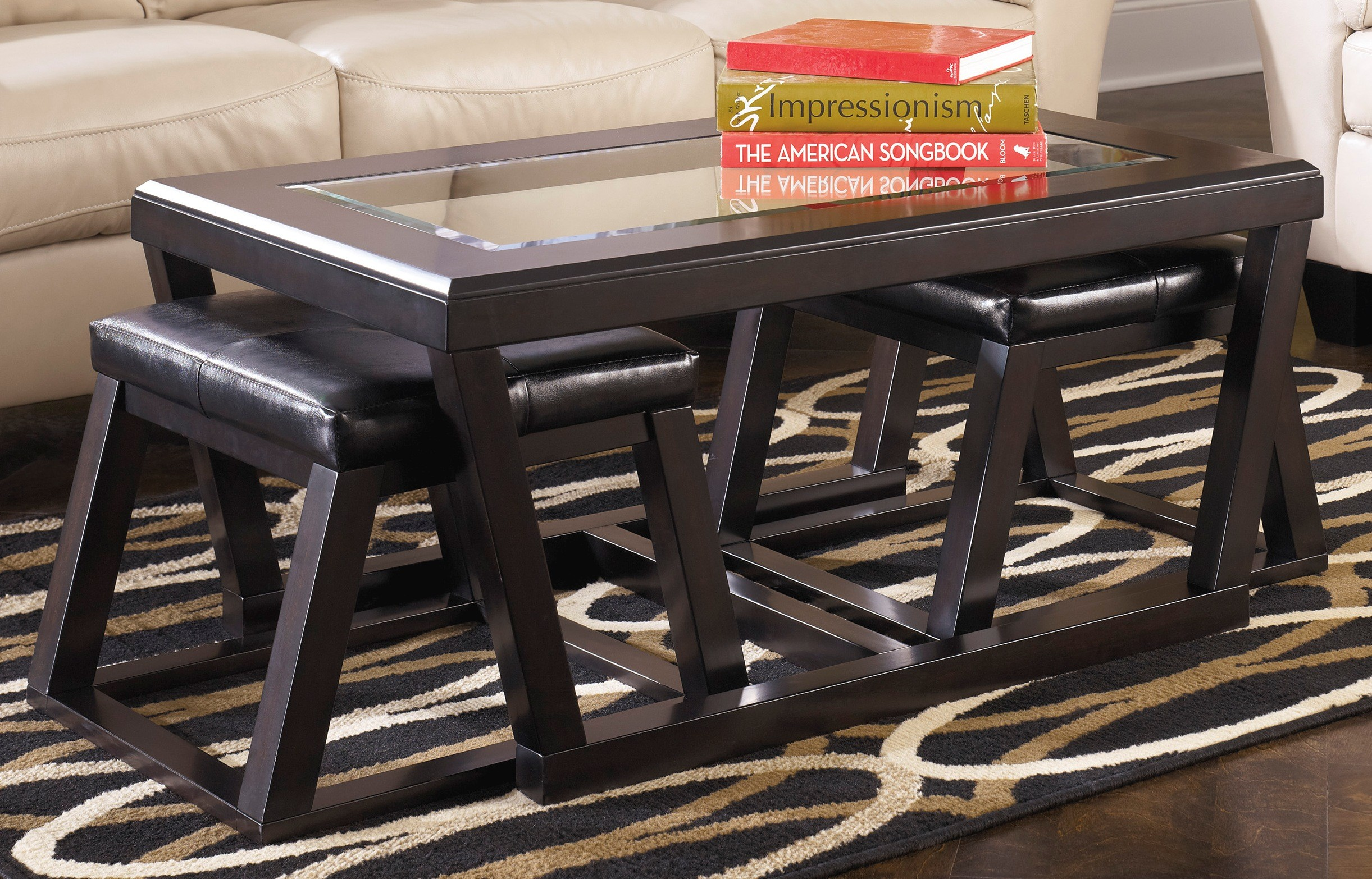 Kelton By Ashley T - Ashley coffee table with stools
