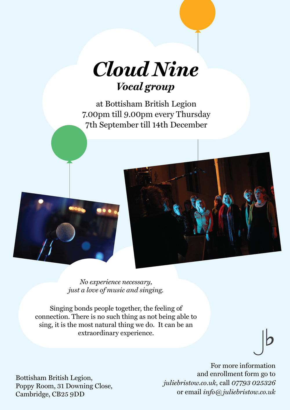 Cloud Nine Vocal Group - Bottisham
