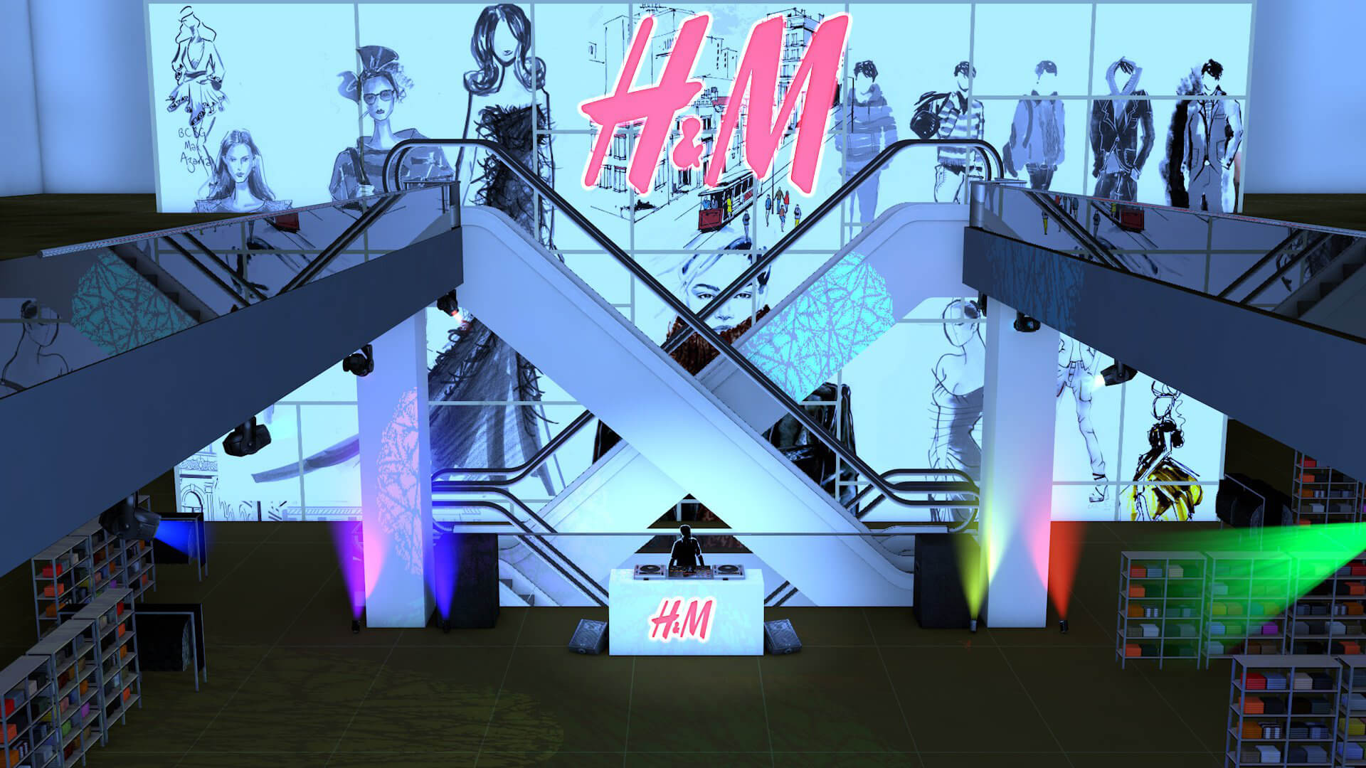H&M after hours event london oxford street