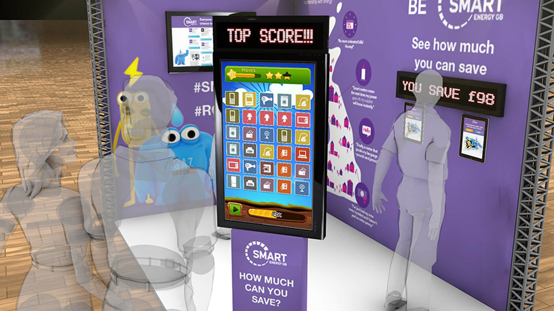 interactive touchscreen stand design app