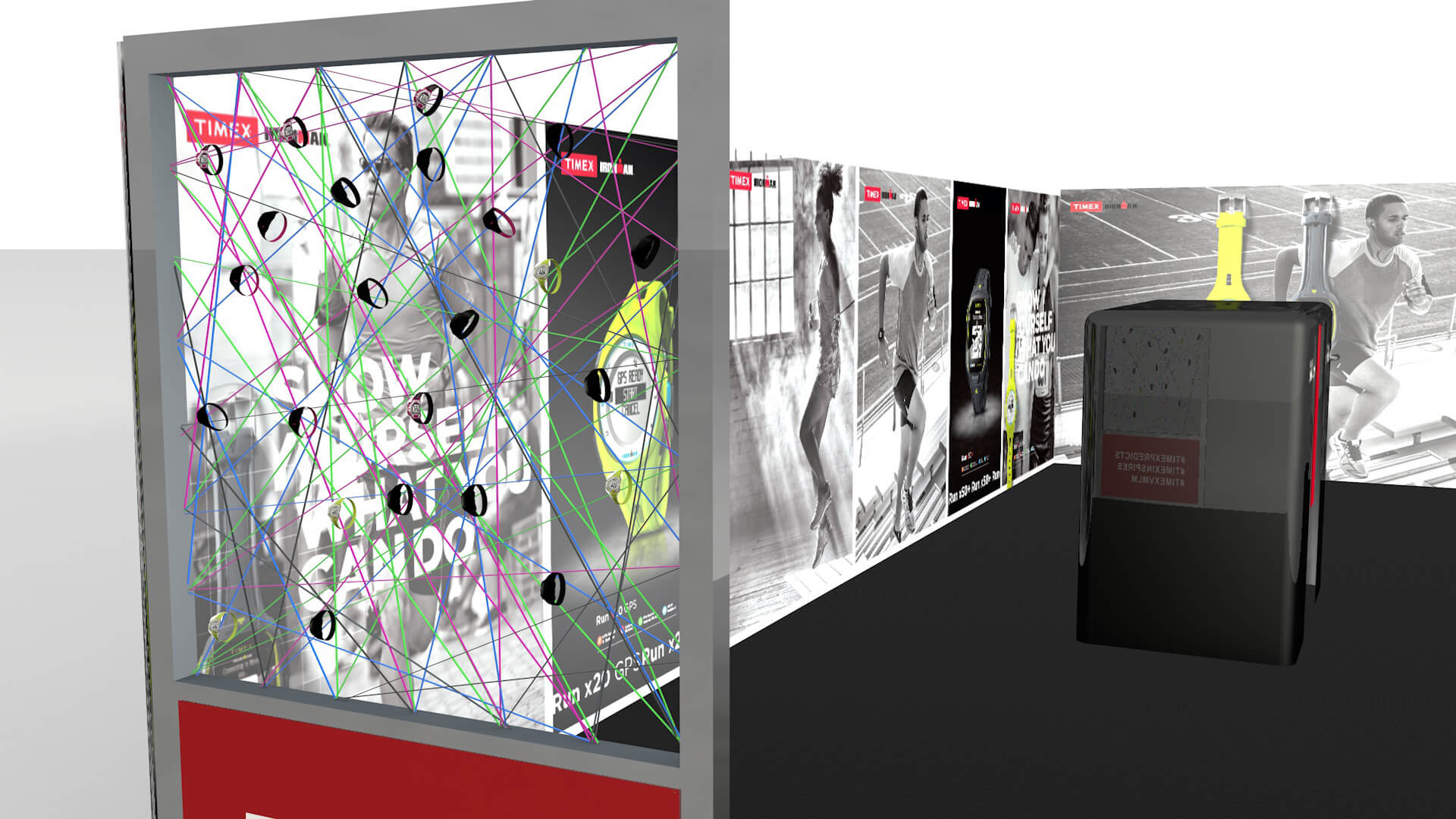 booth motion graphics exhibition stand