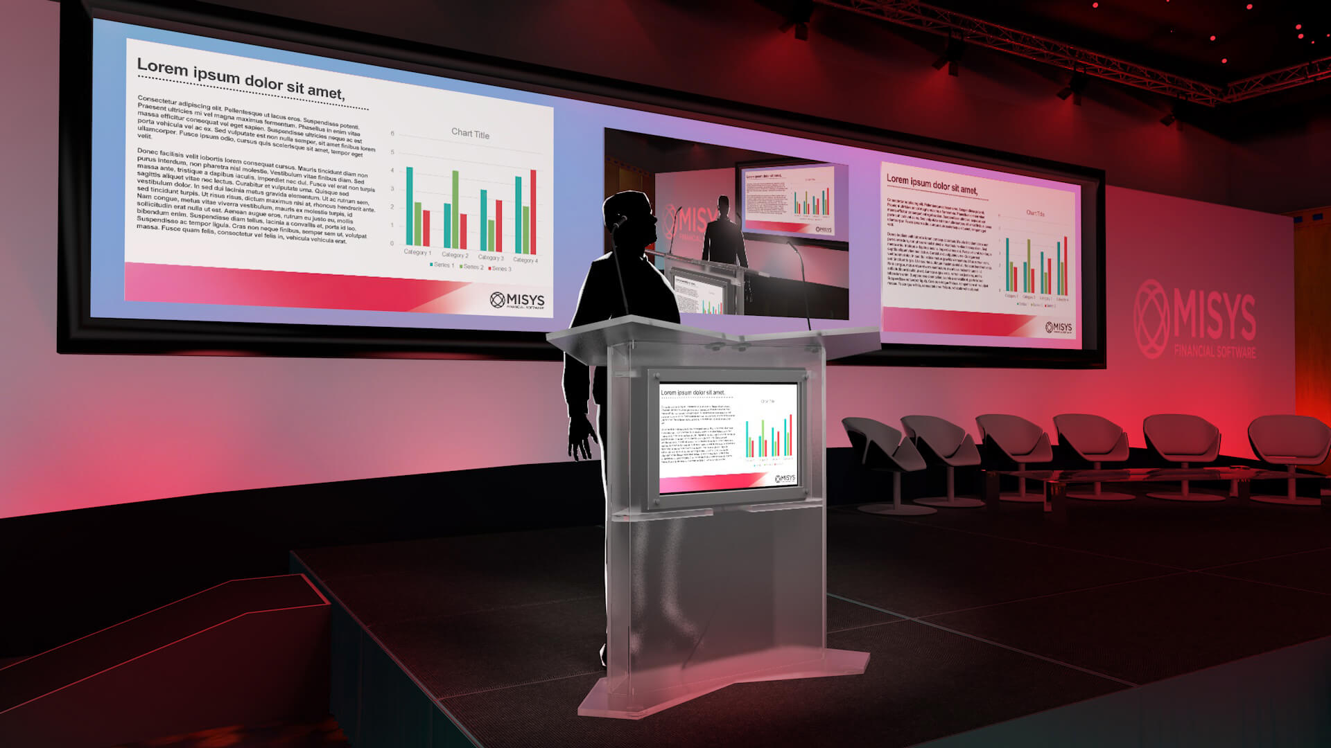 Misys Presentation Design LED Screen
