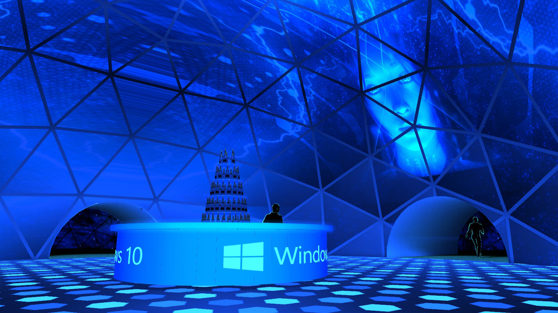 Windows Motion Graphics Projection