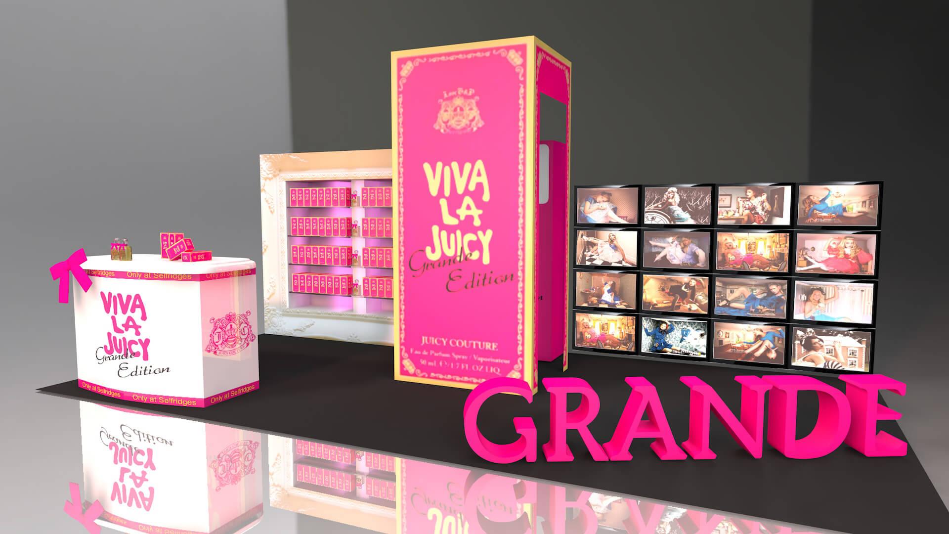 Viva La Juicy Stand Design 3d Pop up shop