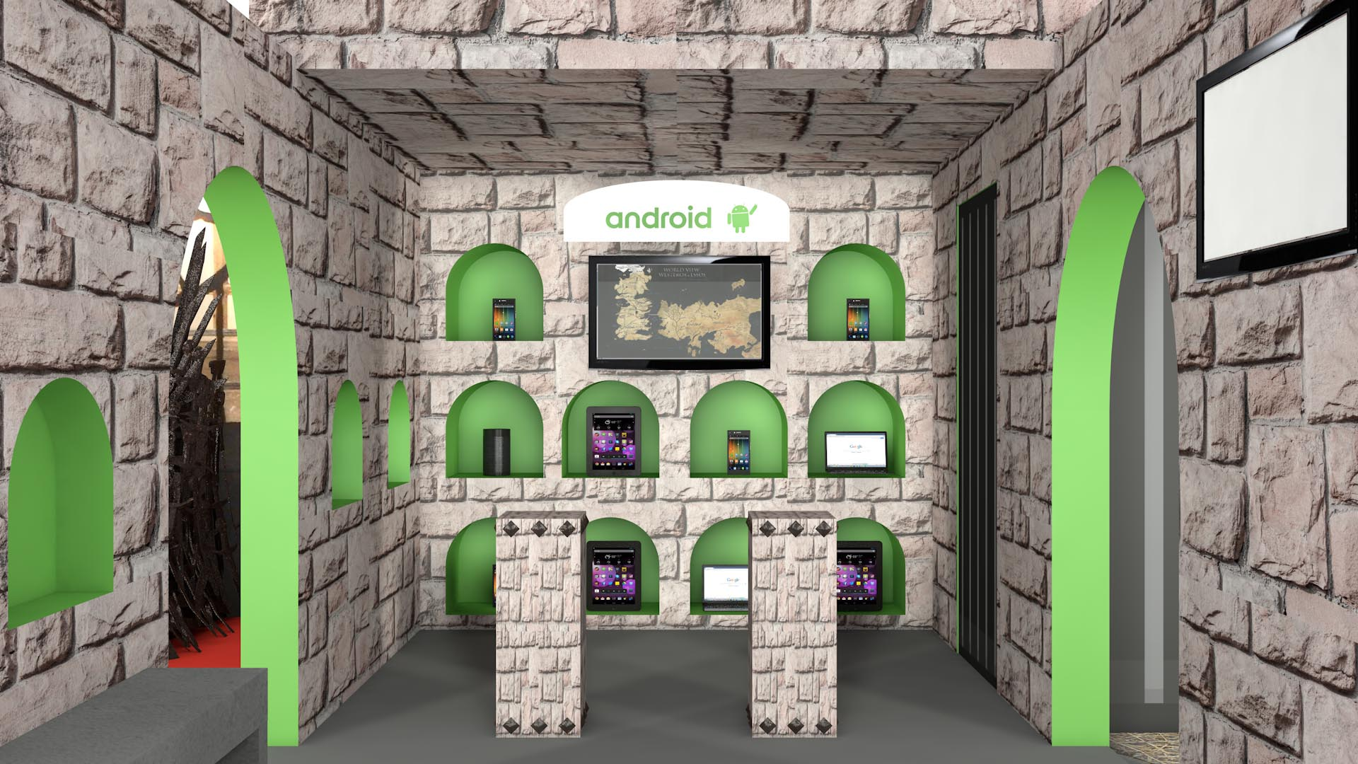Exhibition Stand Design Android Game of Thrones Characters