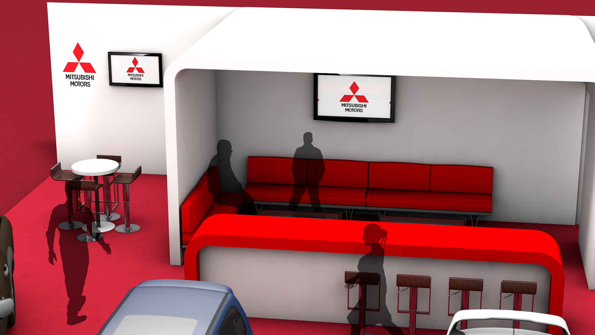 3D Stand Design Fly through Mitsubishi