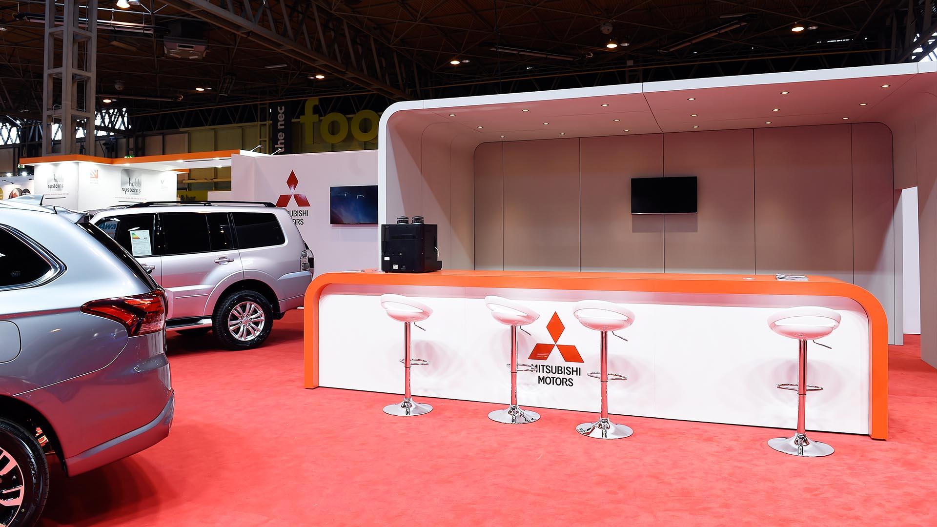 3D Stand Design Mitsubishi Motors