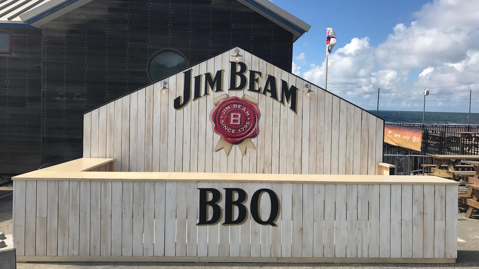 Jim Beam BBQ stand Boardmasters 2017